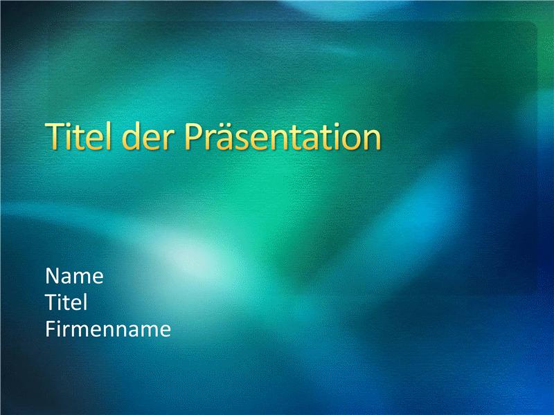 """Beispielpräsentationsfolien (Design """"Grüne Textur"""")"""
