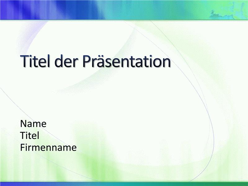 """Beispielpräsentationsfolien (Design """"Weiß und Blaugrün"""")"""