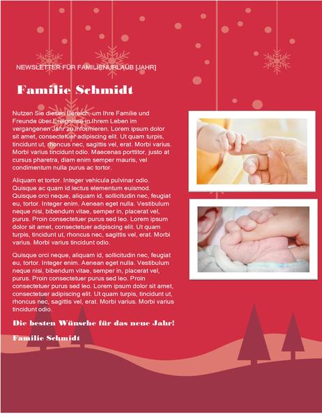 Weihnachtsrundbrief einer Familie