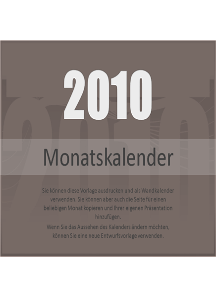 Kalender2010 (Mo-So)