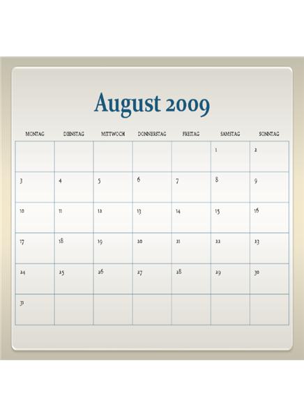 Akademischer Kalender 2009-2010 (13 Seiten, Mo-So)