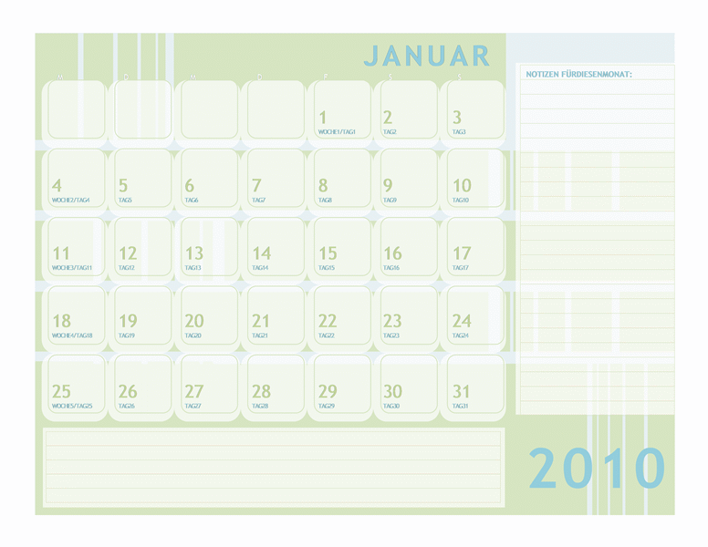 Julianischer Kalender2010