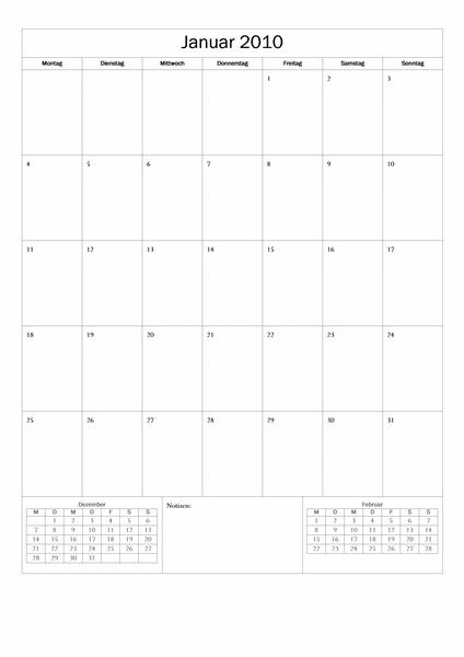 Kalender 2010 (einfaches Design)