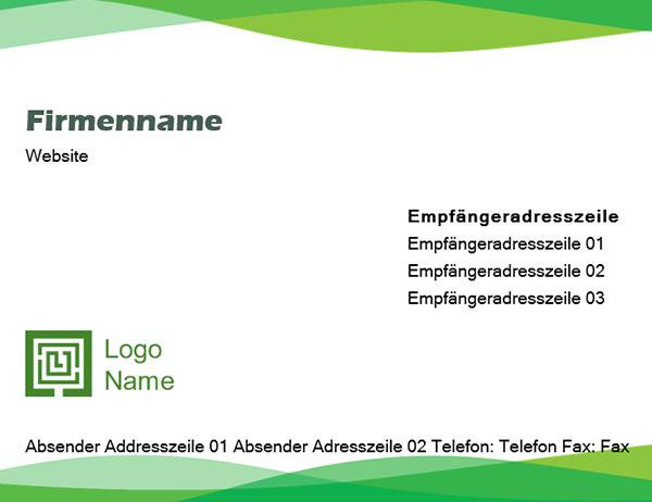 "Umschlag (Design ""Grüne Welle"")"