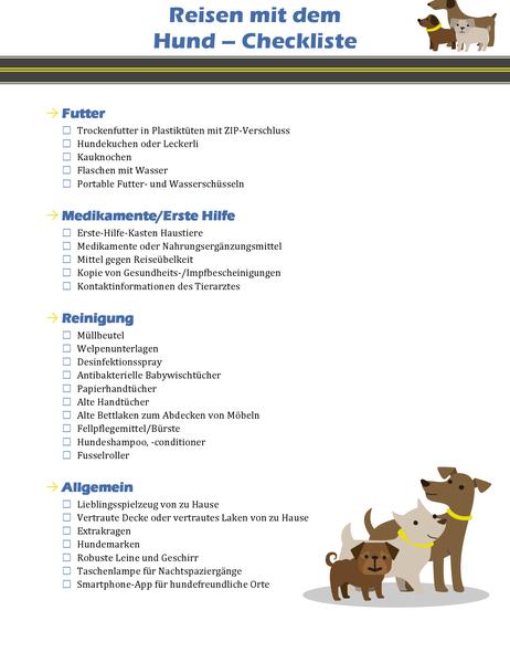 Reisen mit dem Hund – Checkliste