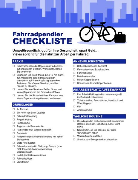 Checkliste für Fahrradpendler