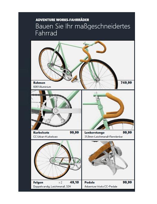 Excel 3D-Produktkatalog (Fahrradmodell)