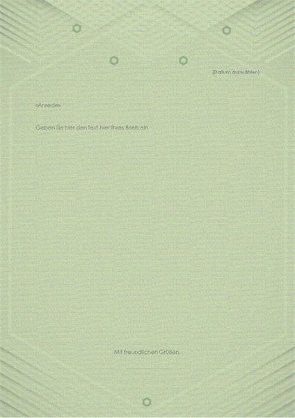 Vorlage für private Briefe (elegantes graugrünes Design)