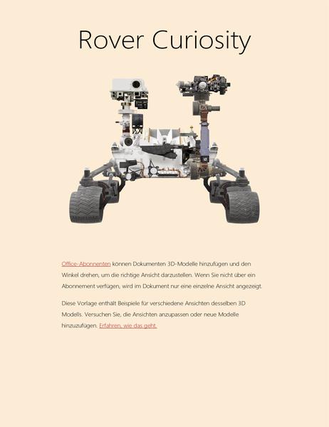 Wissenschaftlicher 3D-Bericht in Word (Mars Rover-Modell)
