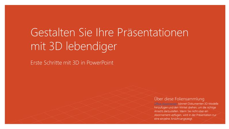 Beleben Sie Ihre Präsentationen mit 3D