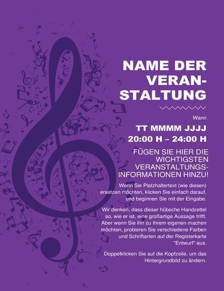 """Handzettel """"Musik"""""""
