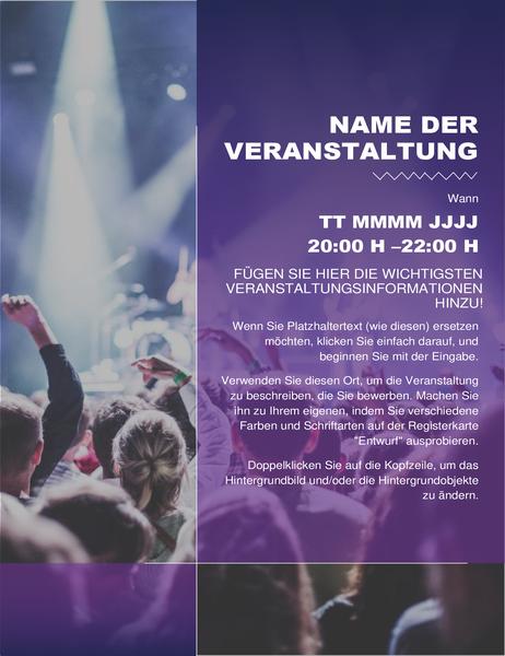 Handzettel für Kulturveranstaltung