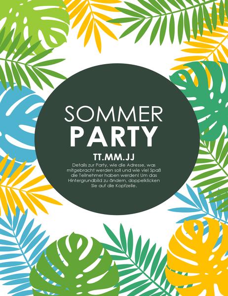 Handzettel für Sommerparty