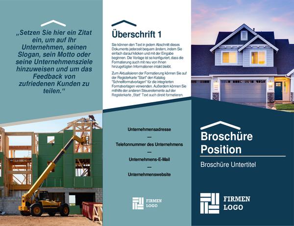 Broschüre für Bauunternehmer