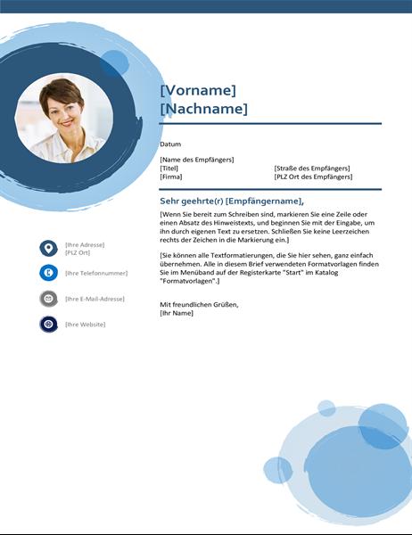 """Deckblatt """"blaue Kreise"""""""