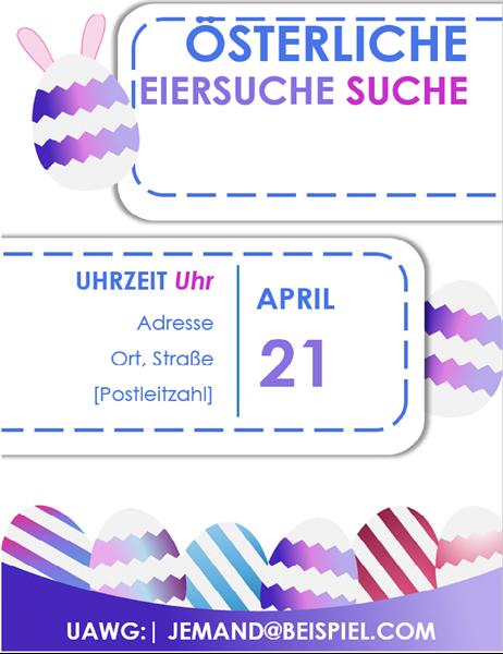 """Flyer """"Ostereiersuche"""", blau"""