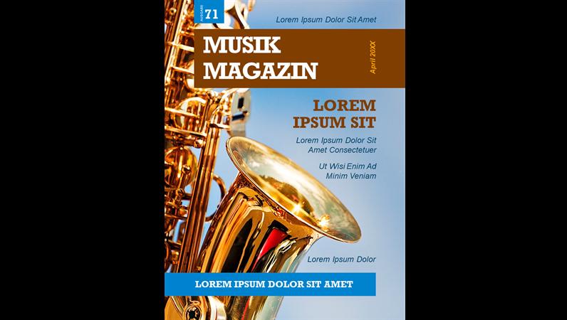 Einbände für Musikmagazine