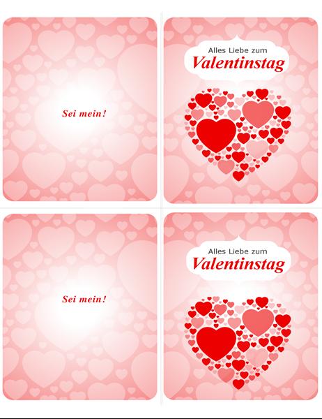 Sei Mein! Karte für den Valentinstag