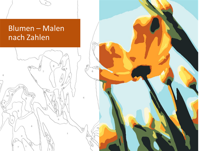 """Malen nach Zahlen """"Blumen"""""""