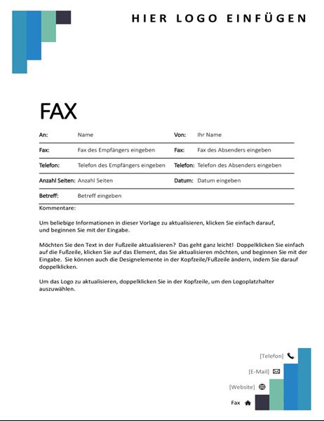 """Faxdeckblatt """"Blaue Schritte"""""""