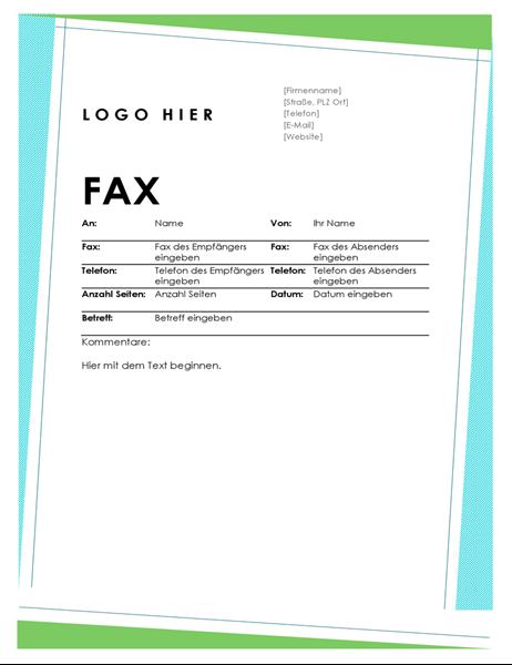 Geometrisches Faxdeckblatt