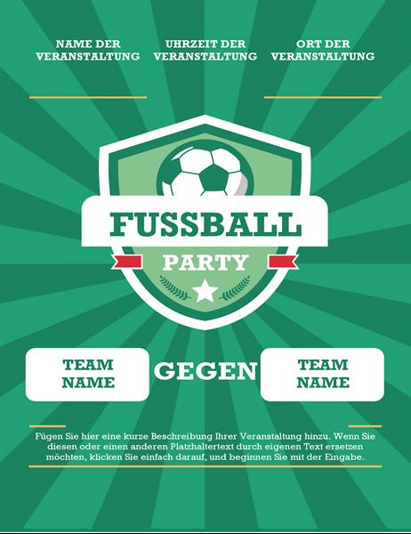 Fußball-Party-Handzettel (international)