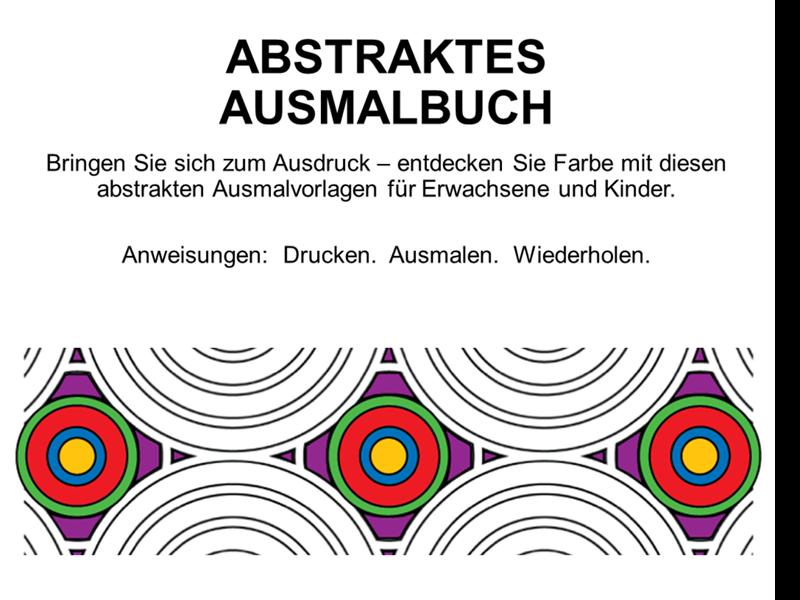 Abstraktes Ausmalbuch
