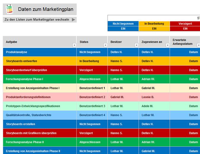 Marketingprojektplaner
