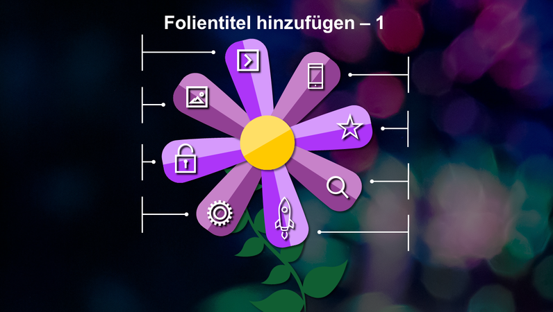 Folie mit animierter Blume