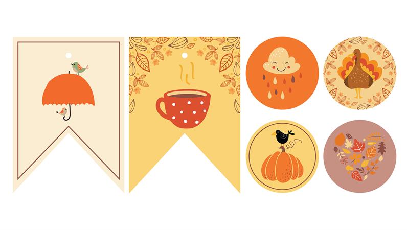 Ausdrucke für Herbstparty
