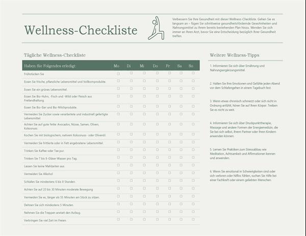 Wellness-Checkliste