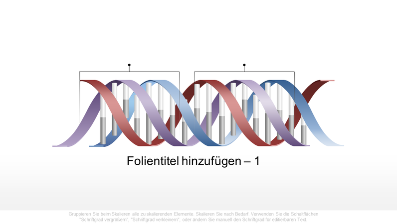 Horizontale DNA-Grafik