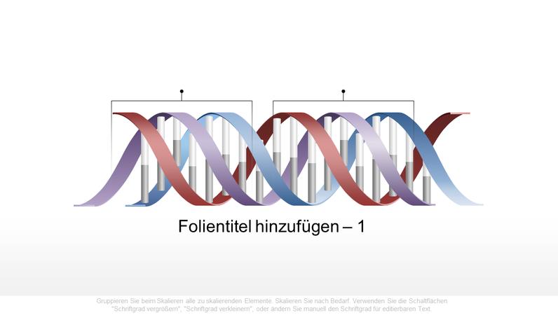 Horizontale DNA-Grafik