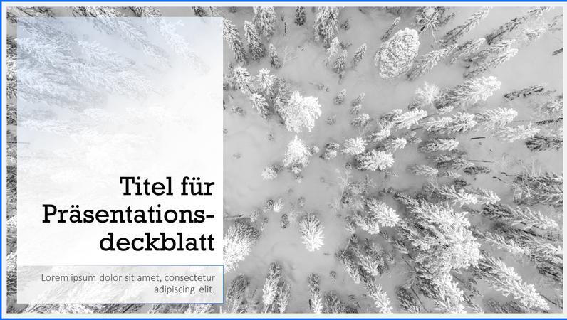"""Präsentation """"Schneelandschaft"""""""