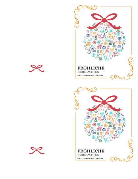 Festliche Ornamentkarte für die Feiertage