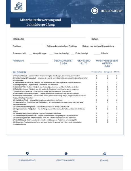 Mitarbeiterbewertung und Lohnüberprüfung für Kleinunternehmen