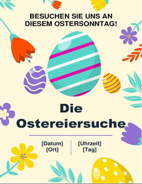"""Flyer """"Ostereiersuche"""", Frühlingsfarben"""