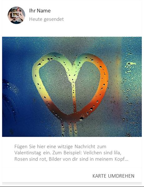 "Valentinskarte ""Herz im Nebel"""