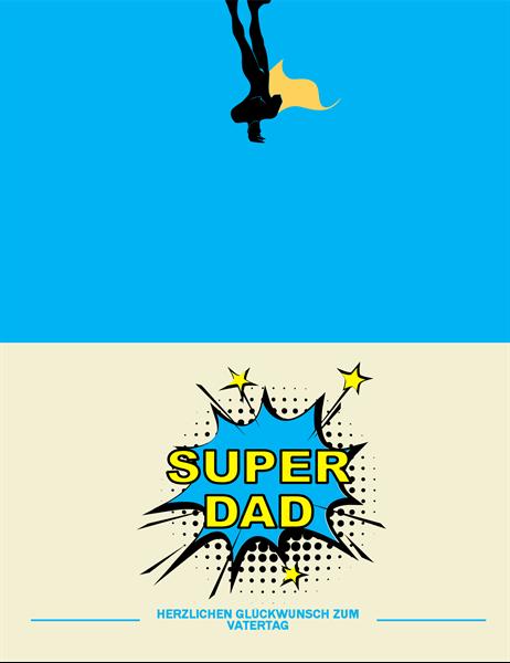 "Vatertagskarte ""Super Dad"""