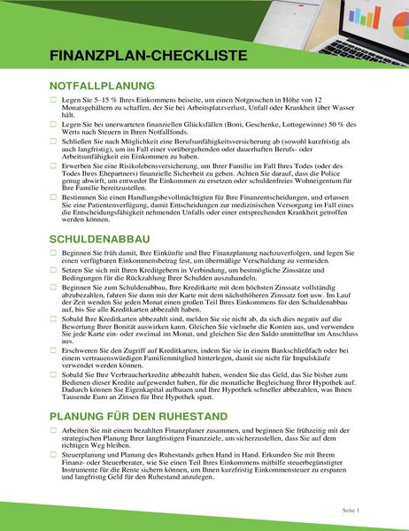 Finanzplan-Checkliste