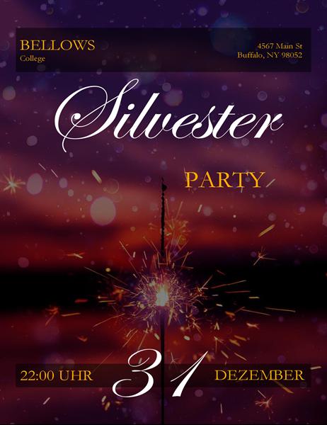 """Silvester-Handzettel """"Wunderkerze"""""""