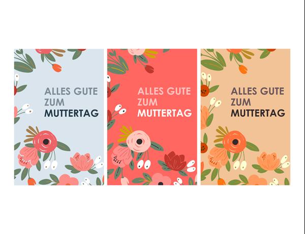 Muttertagskarte mit elegantem, floralem Muster