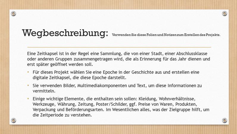 Digitale Zeitkapsel