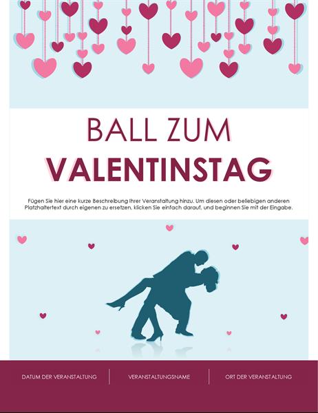 Handzettel für den Valentinstag