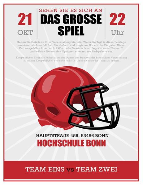 Fußballparty-Handzettel für ein wichtiges Spiel