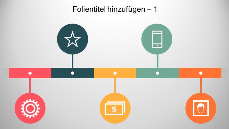 Infografik-Zeitachse