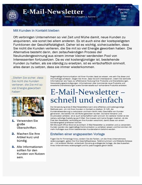 Vorlage für E-Mail-Marketing für Kleinunternehmen