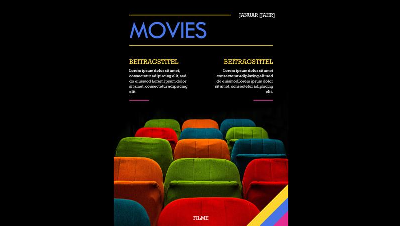 Einbände für Filmmagazine