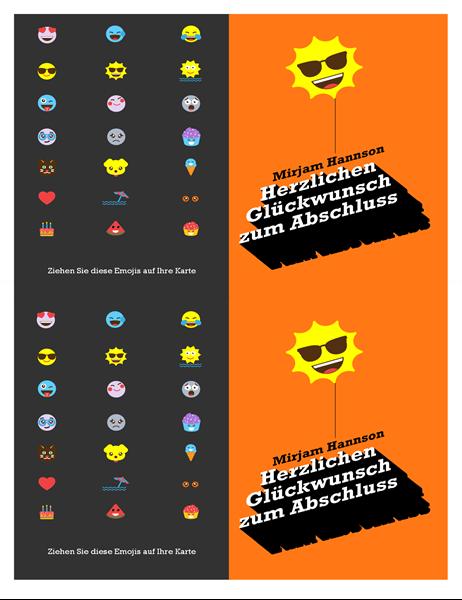 """Abschlusskarte """"Emoji"""""""