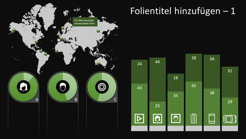 Globales Infografikdiagramm